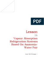 16 Vapour Absorption Refrigeration Systems Based on Ammonia-Water Pair
