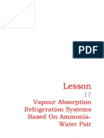 17 Vapour Absorption Refrigeration Systems Based on Ammonia-Water Pair