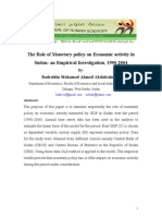 The Role of Monetary Policy on Economic Activity