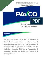 IINSTRUCTIVO CÁLCULO PAVCO