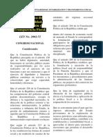 Ley de Responsabilidad Fiscal Estabilizacion y Transparencia Fiscal
