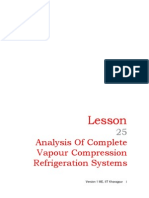 25 Analysis of Complete Vapour Compression Refrigeration Systems