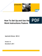 SAP ME How-To-Guide - Work Instructions