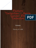 Spatio Temporal Feature extraction using harris 3d corner detector