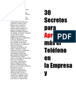 Secretos Telefonicos
