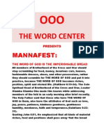 Mannafest come and Dine
