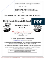 DSCC Senate Roundtable Breakfast Briefing for Democratic Senatorial Campaign Committee