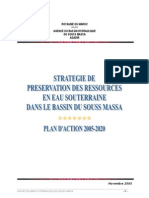 Strategie de Preservation Ressources Eau a Souss Massa