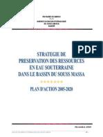 Strategie de Preservation Ressources Eau a Souss Massa