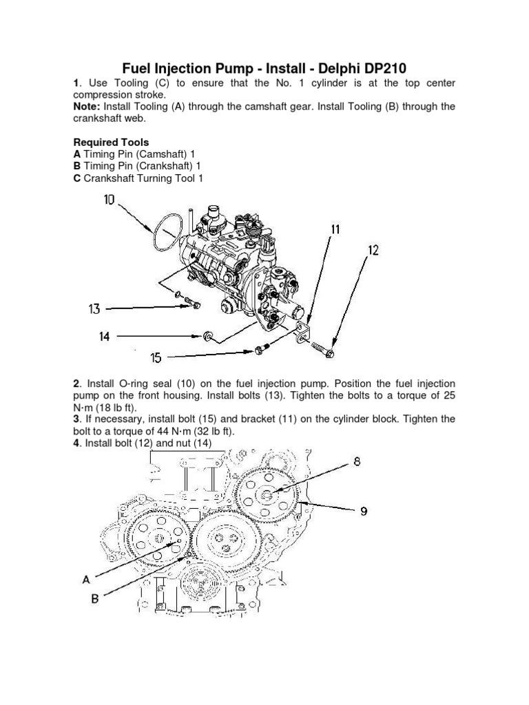 delphi dp210 fuel injection pump cat rh scribd com Ford Fuel Pump Replacement 2000 Nissan Pathfinder Fuel Pump Location