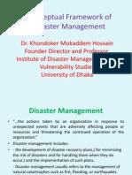 Conceptual Framework of Disaster Management