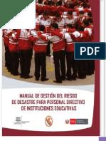 MANUAL DE GESTIÓN DE RIESGOS PARA INSTITUCIONES EDUCATIVAS DE LA UNESCO PERÚ