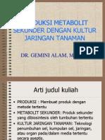 Produksi Metabolit Sekunder I-2