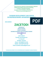 Zacetodi -Tourism Development and Youth Entrepreneurship Awareness Project -Completed - Brian m Touray - Zest Project Manager= Youth Empowerment - Tourism Awareness - CUSO- INTL- VSO INTL- ACRA