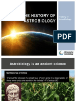 History of Astrobiology