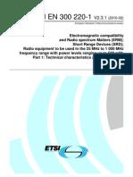 ETSI EN 300 220-1 ETSI EN 300 220-1 20102010