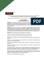 Reglamento de Servicio de Carrera Profesional Policial de La SSPM