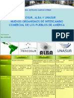 Mercosur-Alba-unasur_nuevos Organismos de Intercambio Comercial