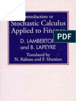 Lamberton D., Lapeyre P. - Introduction to Stochastic Calculus Applied to Finance