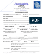 Investigation Request Form