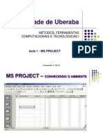 Apresentacao - Microsoft Project - Visão Geral do Ambiente