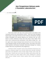 Identifikasi dan Pengelolaan Bahaya pada Sistem Peralatan Laboratorium.doc