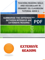 Summarise the Differences Between Intensive and Extensive Reading