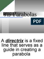 9.3 Parabolas