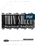 Thin Sheet Structural Analysis