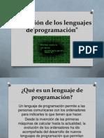 Qué es un lenguaje de programación y su evolucion