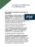 Budismo - Bhante Vimalaramsi - Introduccion a La Practica de La Meditacion Budista
