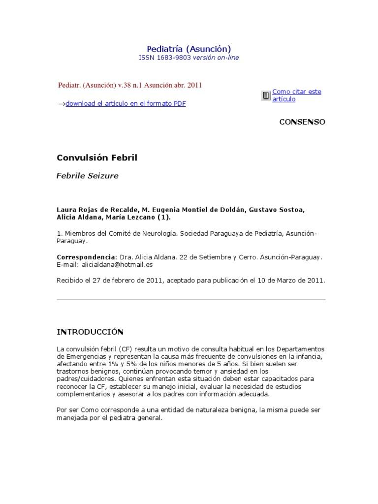 Convulsion Febril en Pediatria Chile