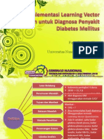 Implementasi Learning Vector Quantization Untuk Diagnosa Penyakit Diabetes Mellitus