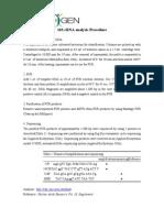 16S rRNA Analysis Procedure