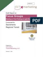 Transit Marketing Focus Groups