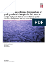Effect of Frozen Storage Temperature on Quality-related Changes in Fish Muscle