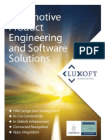 Brochure of Luxoft Automotive Software by Luxoft Software Development