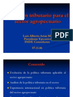 Regimen Tributario Para El Sector Agropecuario