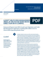 Case Study Deutsche Bank Compas Banking Luxoft for Risk Management Advisory