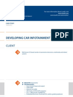 Case Study Developing Car Infotainment Automotive Luxoft for Us Based Vendor