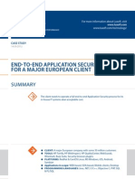 Case Study End to End Application Application Security Luxoft for Major European Company