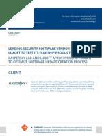 Case Study Leading Security Software Vendor Software Luxoft for Kaspersky Lab