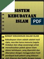 sistem kebudayaan islam
