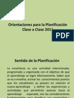 Orientaciones para la Planificación Clase a Clase 2011 (1)
