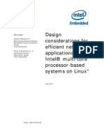 Design considerations for efficient network applications with Intel® multi-core processor-based Design for high performance Intel multi-core based Linux