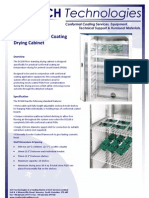 DC100 Conformal Coating Drying Cabinet Technical Brochure 160209