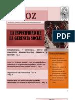 Periodico 22feb2013 Especificidad de Gerencia Social