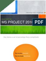 presentación de MS PROJECT