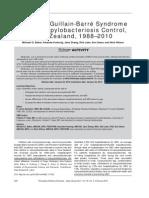 Declining GBS After Campylobacter Infection (Michael G. Baker)