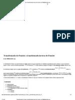 Transformada de Fourier y Transformada Inversa de Fourier, Por WikiMatematica